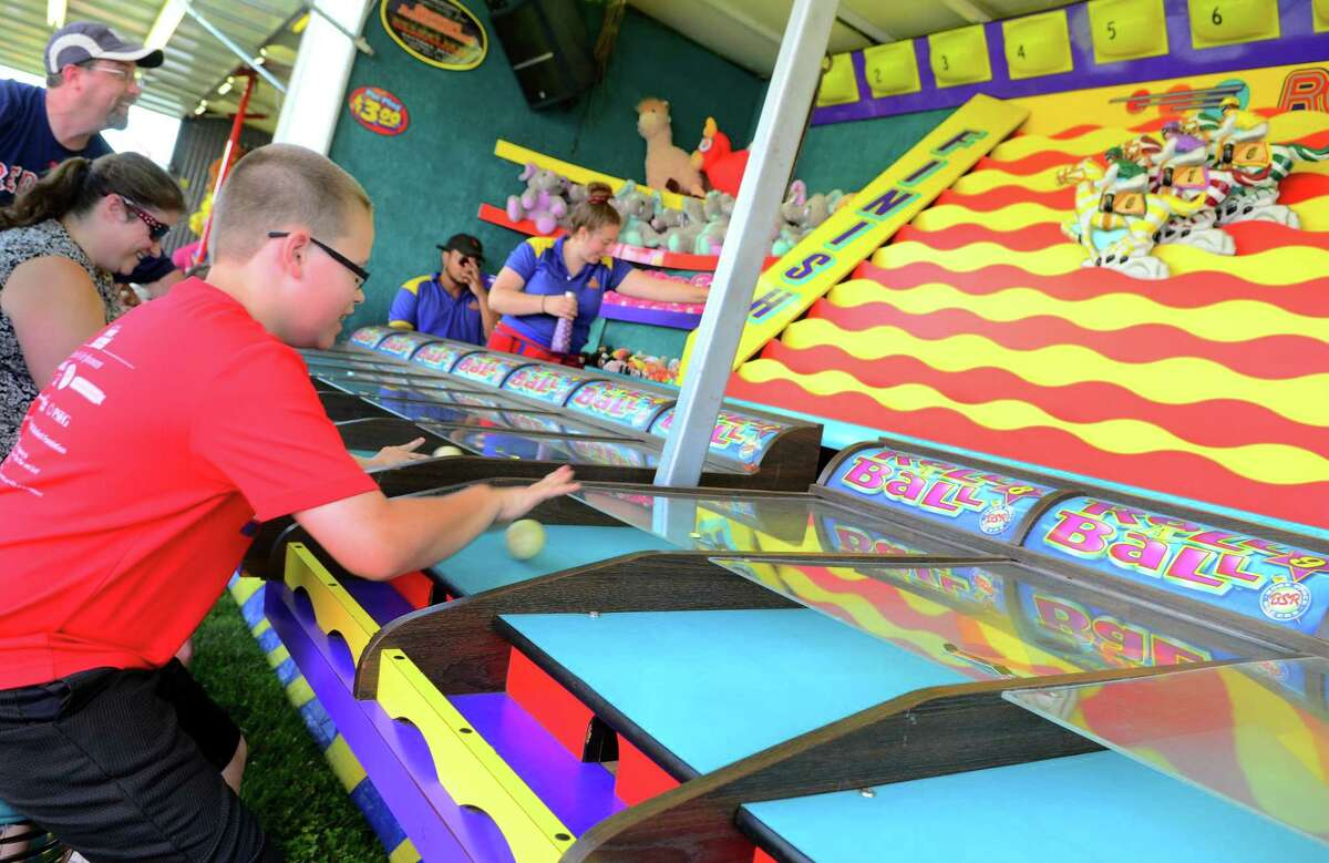 Trumbull Day 2019 at Trumbull High School in Trumbull, Conn., on Saturday June 29, 2019. Trumbull Day is a fun-filled family event with food, vendors, carnival rides and games, children's entertainment, a main stage featuring local bands and fireworks.