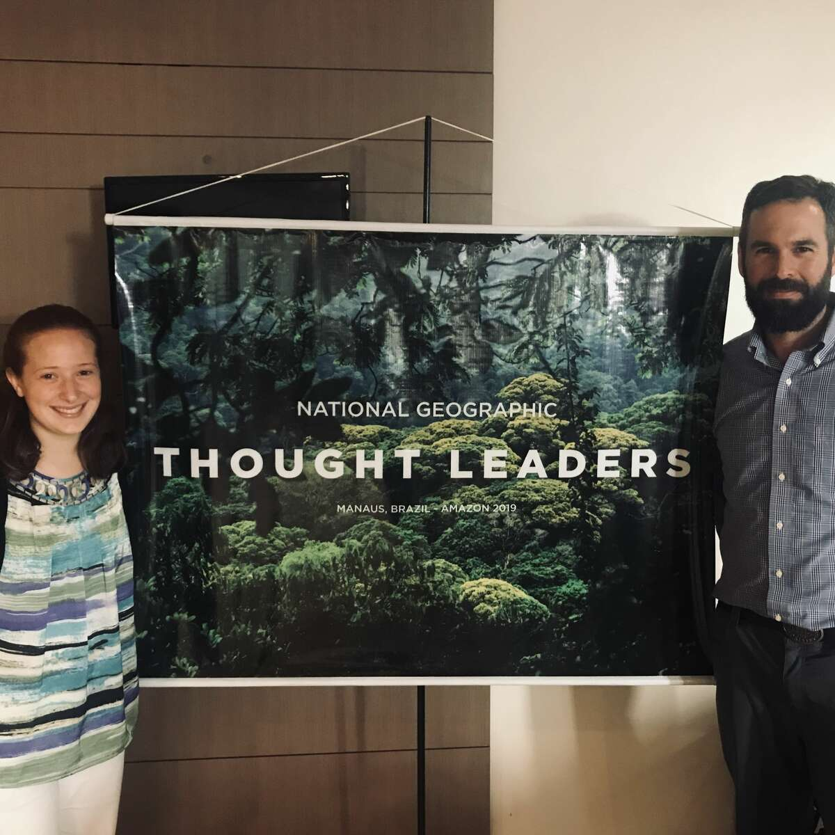 Zoe Pagliaro, left, and Kris Covey, visiting assistant professor of environmental studies and sciences at Skidmore College, attended a conference of scientistsin Manaus, Brazil in 2019.