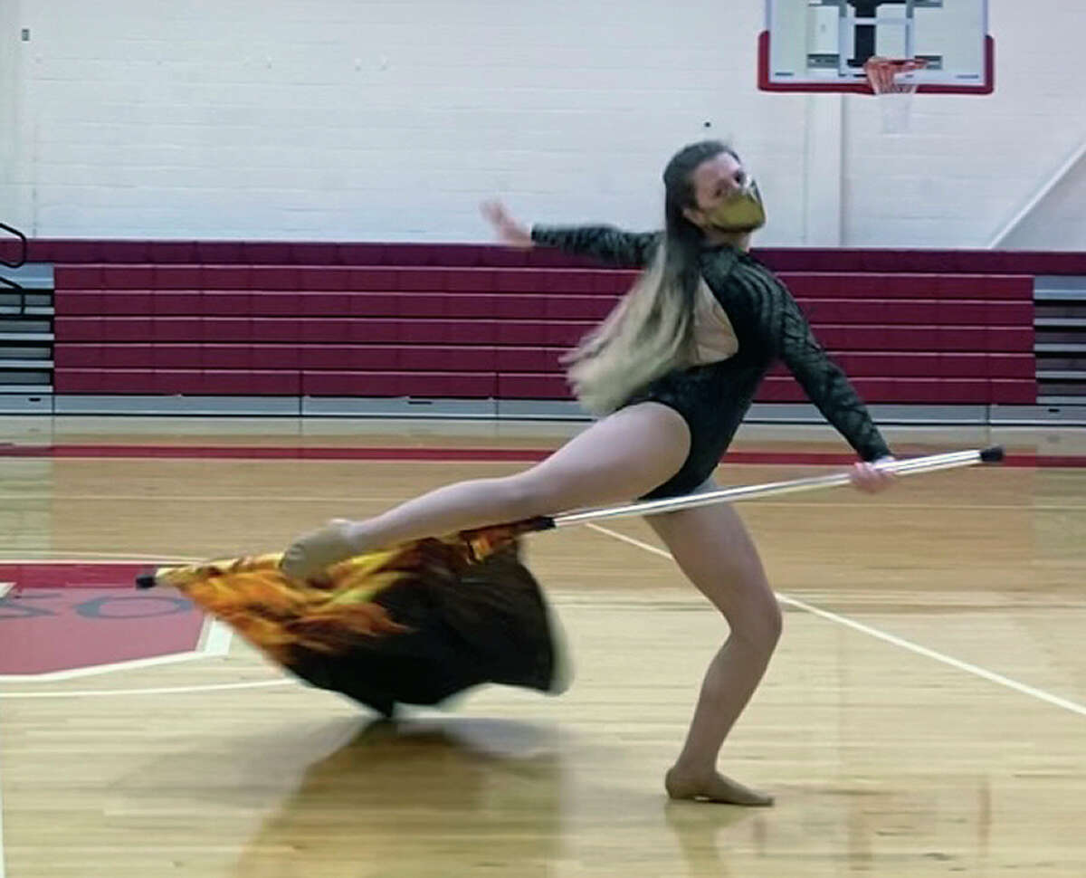Jacksonville High School senior Rissa Capps-Kroemelbein's solo performance for the Illinois Drill Team Association State Finals earned her a top honor. The competition was held virtually.