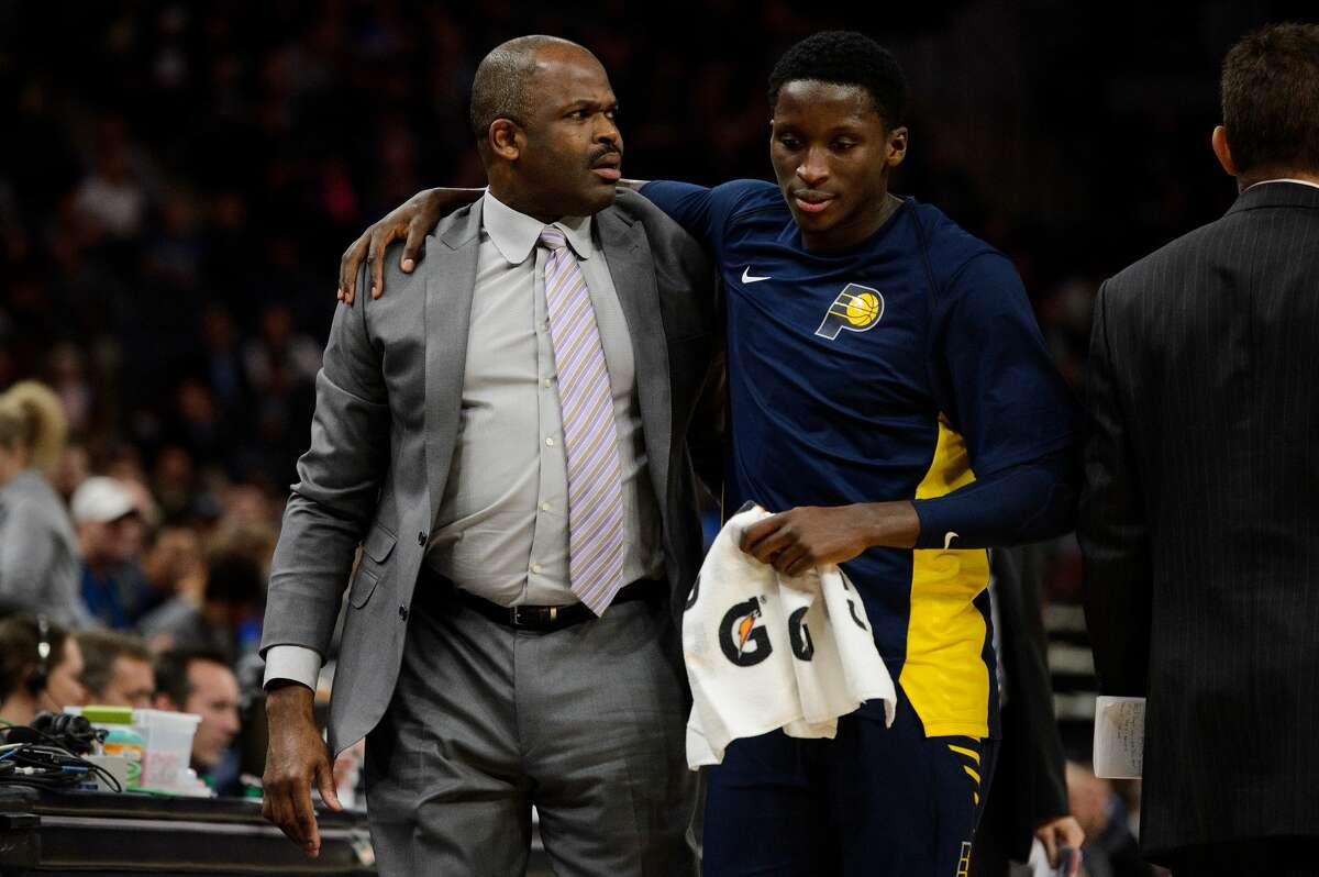 Victor Oladipo was an All-NBA third-team player in 2017-18 and the Most Improved award winner while playing for Nate McMillan with the Pacers.