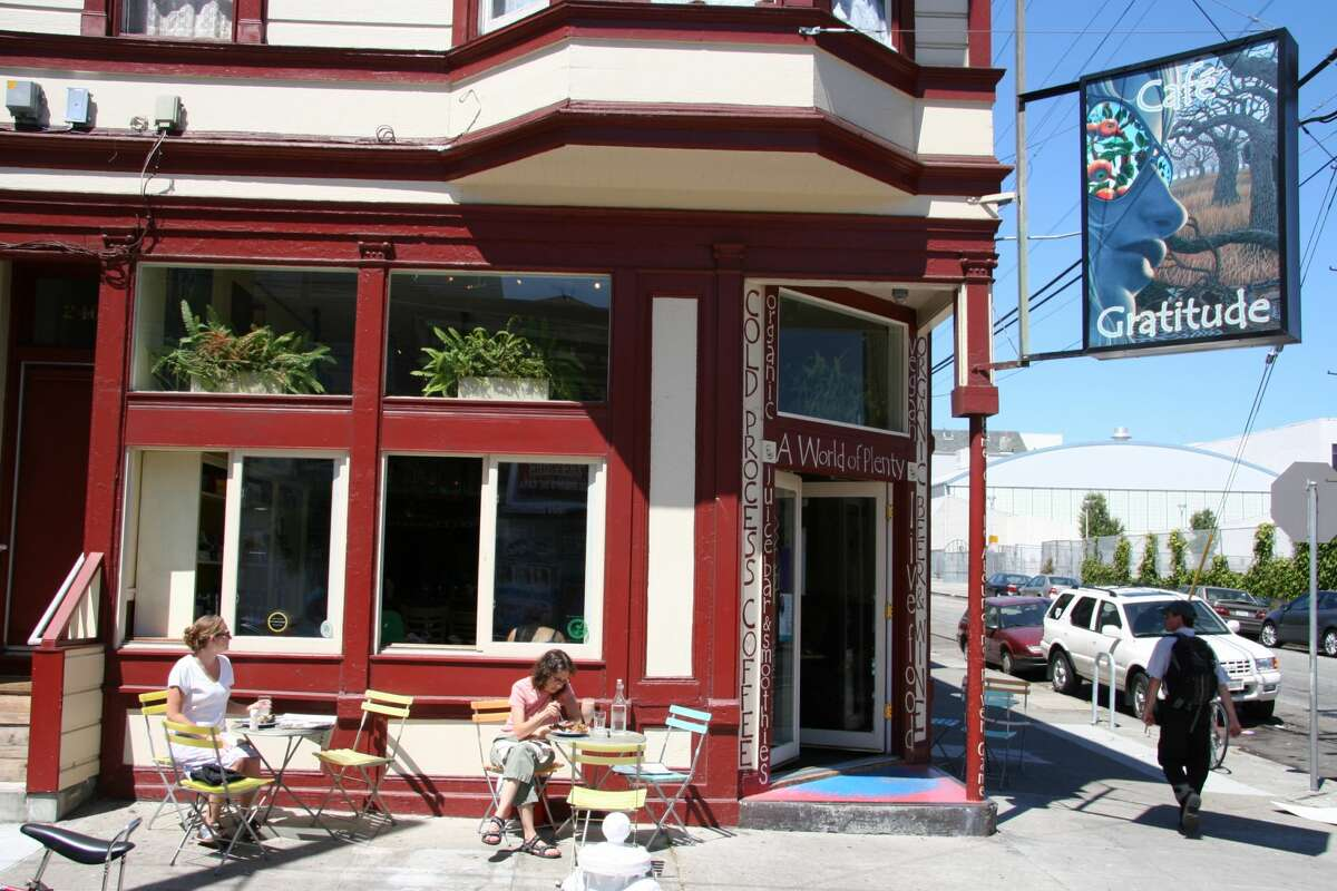 Cafe Gratitude is seen at its original San Francisco location on 2400 Harrison St. The vegan restaurant is coming back to San Francisco as a pop-up inside Gracias Madre.