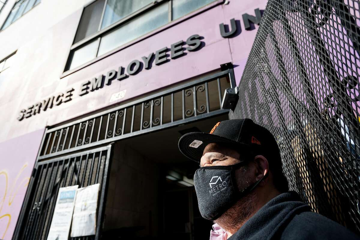 Ramiro Rodriguez is among many janitors who fear getting COVID-19 while working in poorly ventilated buildings.