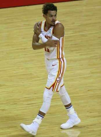 Houston Rockets guard Kevin Porter Jr. (3) drives toward the basket durign the second quarter of the NBA game against the Atlanta Hawks Tuesday, March 16, 2021, at Toyota Center in Houston. Photo: Yi-Chin Lee, Staff Photographer / © 2021 Houston Chronicle