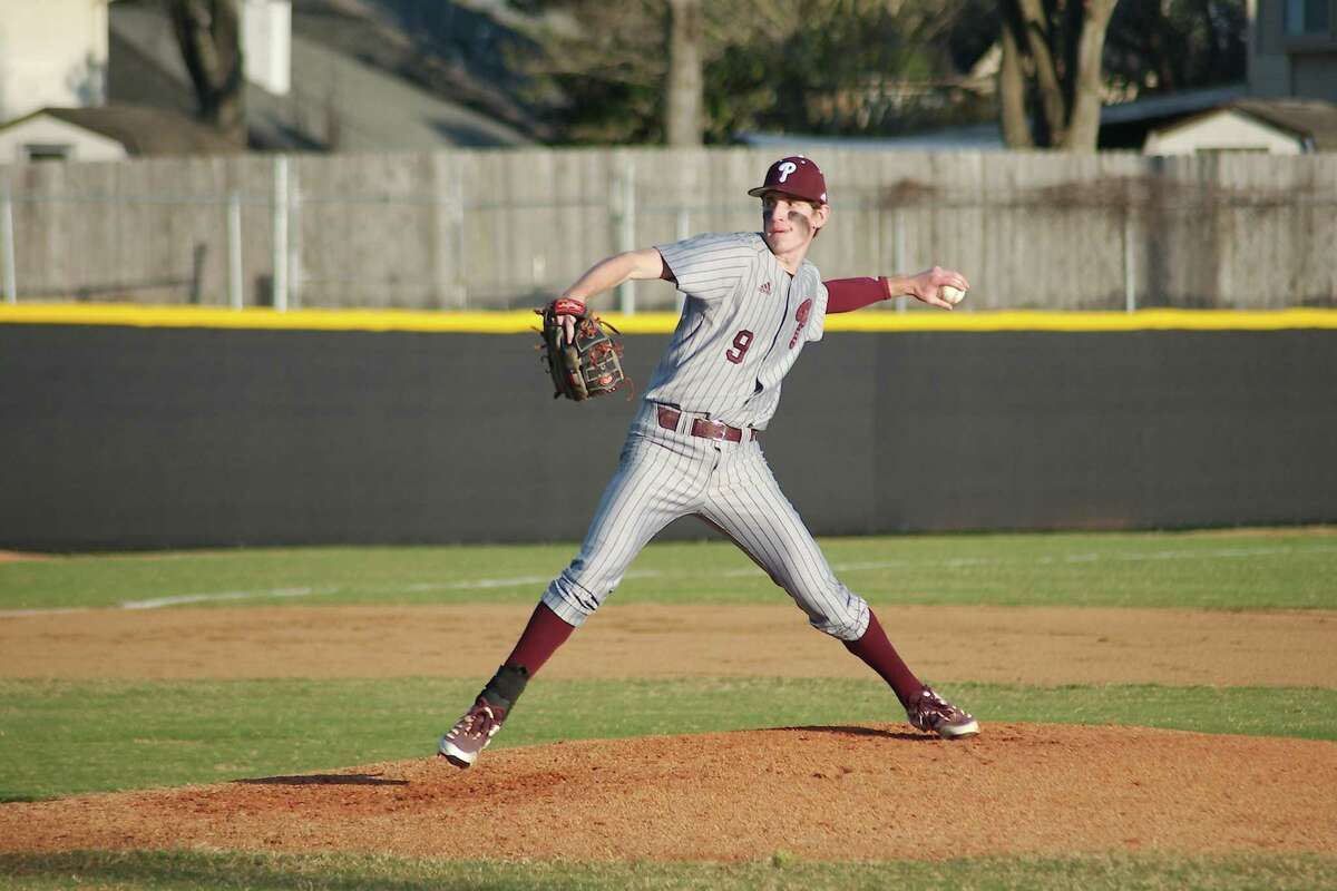 Pearland's R.J. Patrick pitched a shutout against Clear Brook in a playoff opener Friday night.