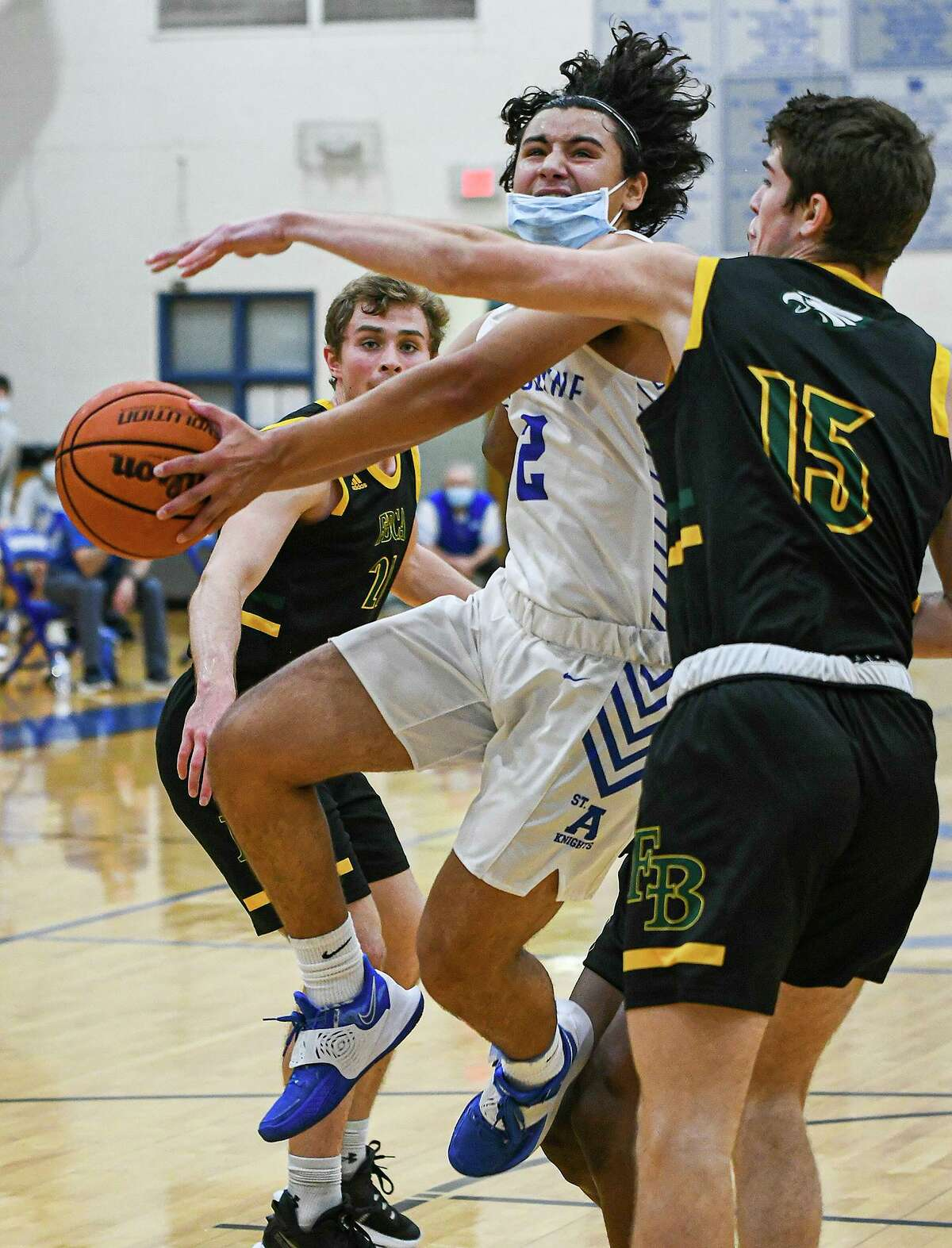 St. Augustine's Diego Romo was named first-team All-State after averaging 21.8 points, 5.1 rebounds, 2.5 assists and 2.2 steals for the Knights in his junior season.