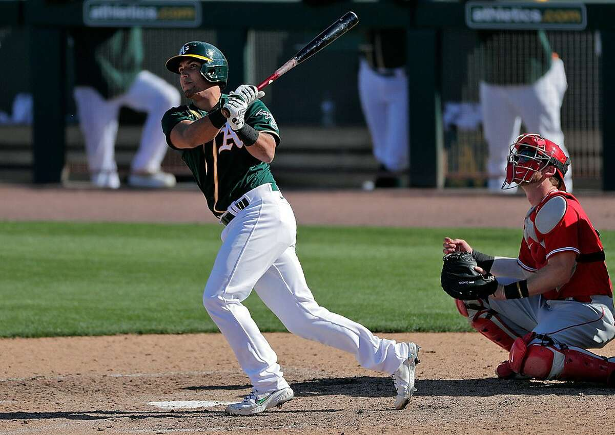 Carlos Perez is playing with the A's this spring as a non-roster invitee.
