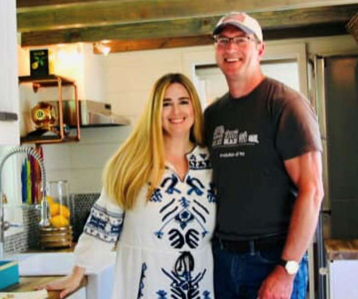 Tori and Ken Pond, owners of Craft and Sprout, a business that builds and showcases tiny homes. The couple faces a $100,000 from the landlord of the warehouse they work in.