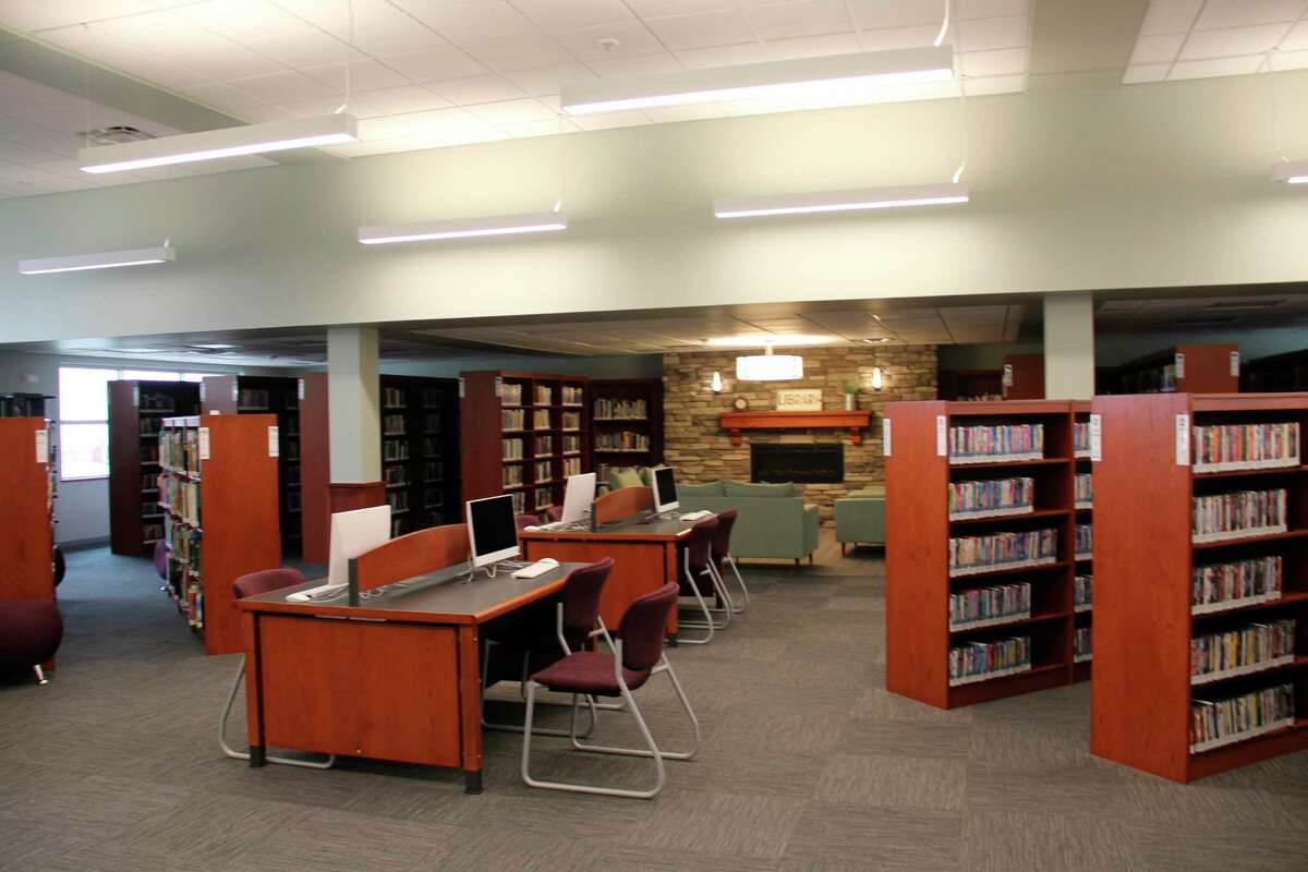 The layout of the new library space for the Columbia Township library. (Robert Creenan/Huron Daily Tribune)