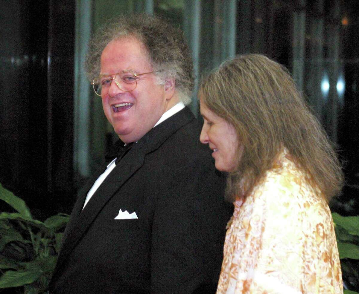 James Levine arrives at the Kennedy Center Awards dinner at the State Department in Washington, D.C., in 2002.