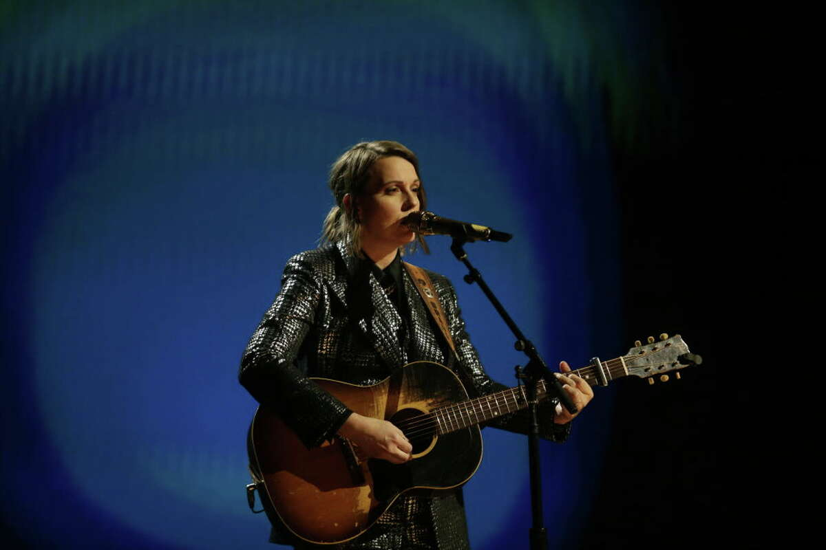 LOS ANGELES - MARCH 14: Brandi Carlile performing at THE 63rd ANNUAL GRAMMY® AWARDS, broadcast live from the STAPLES Center in Los Angeles, Sunday, March 14, 2021 (8:00-11:30 PM, live ET/5:00-8:30 PM, live PT) on the CBS Television Network and Paramount+. (Photo by Francis Specker/CBS via Getty Images)