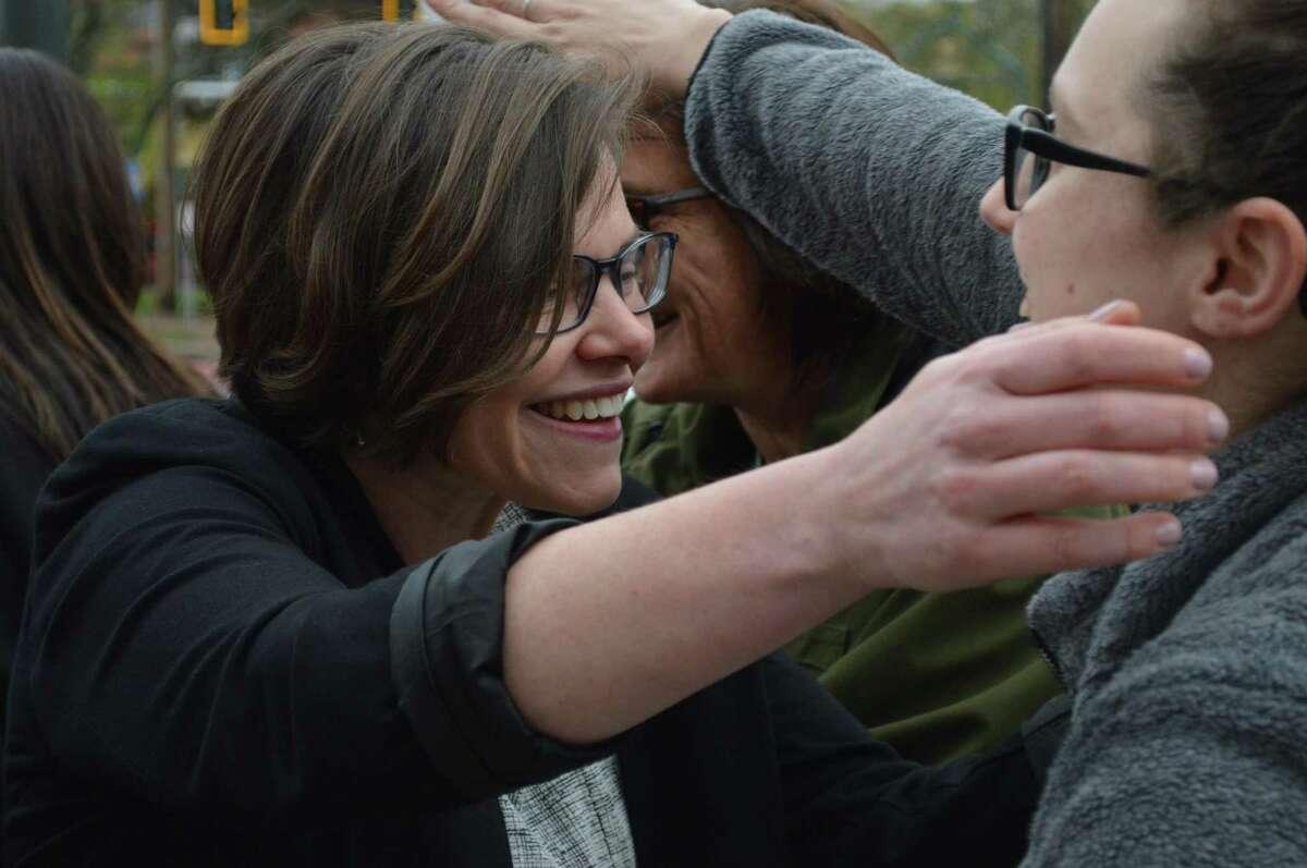 Former Hamden Councilwoman Lauren Garrett, pictured here, is seeking the Democratic endorsement in the 2021 mayoral race.