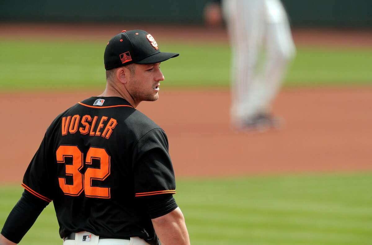 Vosler, who grew up idolizing Derek Jeter, leads San Francisco with 12 hits this spring.