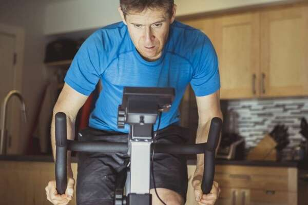 Spin away at home, then stow your bike until next time you want to sweat.
