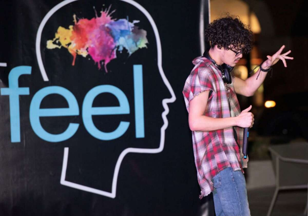 Artfeel, the performance art night of whimsy which has been on hiatus for almost two years, returned to live action on Wednesday, March 10, at Market Street in The Woodlands. About 100 people attended the event which featured 10 performers doing dance, spoken word and music.