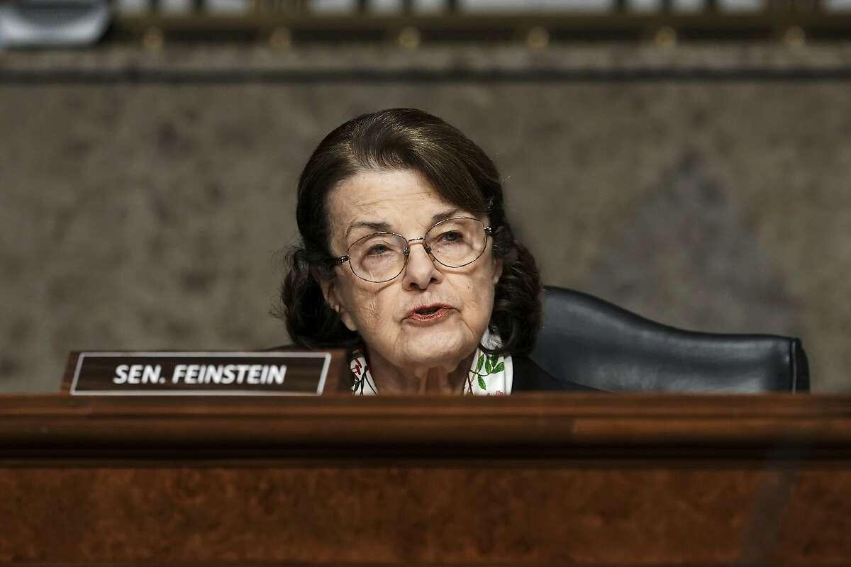 Sen. Dianne Feinstein, D-Calif., speaks during a committee hearing in Washington, D.C., on March 3, 2021.