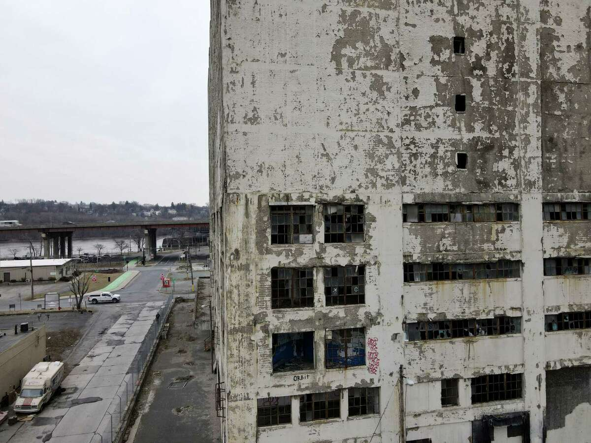 Central Warehouse is seen from above Colonie Street on Wednesday, March 17, 2021, in Albany, N.Y. (Will Waldron/Times Union)
