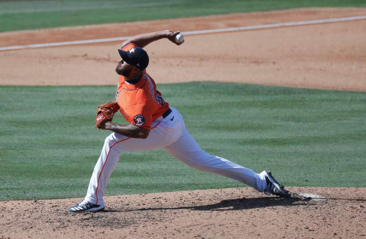 Reliever Josh James still must undergo COVID-19 intake testing and screening before he can join the Astros' workouts.