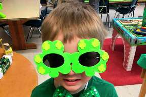 A preschool student at Trinity Lutheran School is decked out in his St. Patrick's Day best on Wednesday. (Courtesy photo)