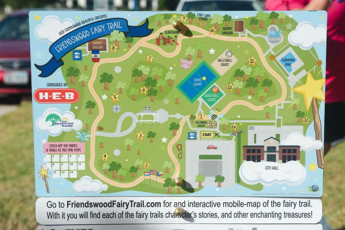 A map shows the location of fairy and troll homes to find along the Fairy Trail.