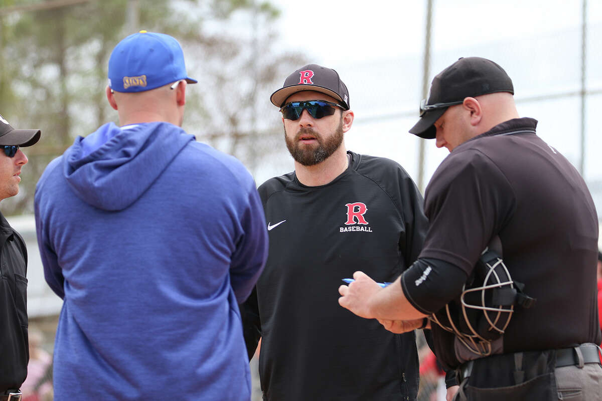 RPI baseball coach Keith Glasser, center, said it will take his team about four weeks to be ready to play games.