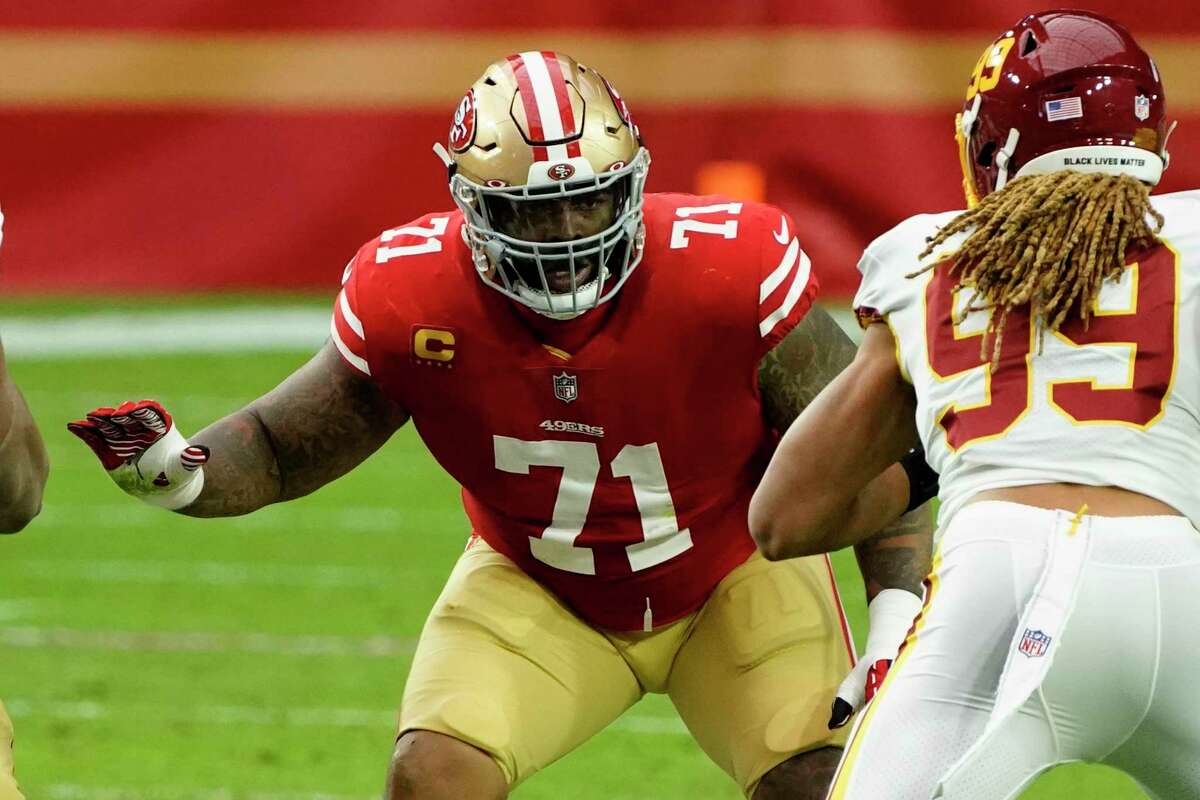 The 49ers avoided the need to draft a left tackle by signing Trent Williams to a six-year, $138.06 million deal.
