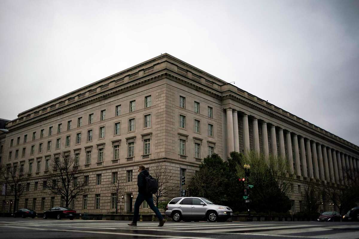 The Internal Revenue Service building in Washington is shown. The IRS will again give Americans extra time to file their taxes as a result of the pandemic. Instead of the usual April 15 deadline, filers will instead have until May 15.
