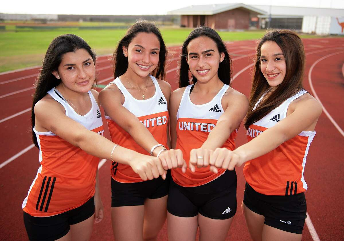 The United girls' 4x100-meter relay team of Celeste Rangel, Gabriela Elizalde, Natalia Suarez and Abrianna Casarez finished in 51.41 to win the city championship.