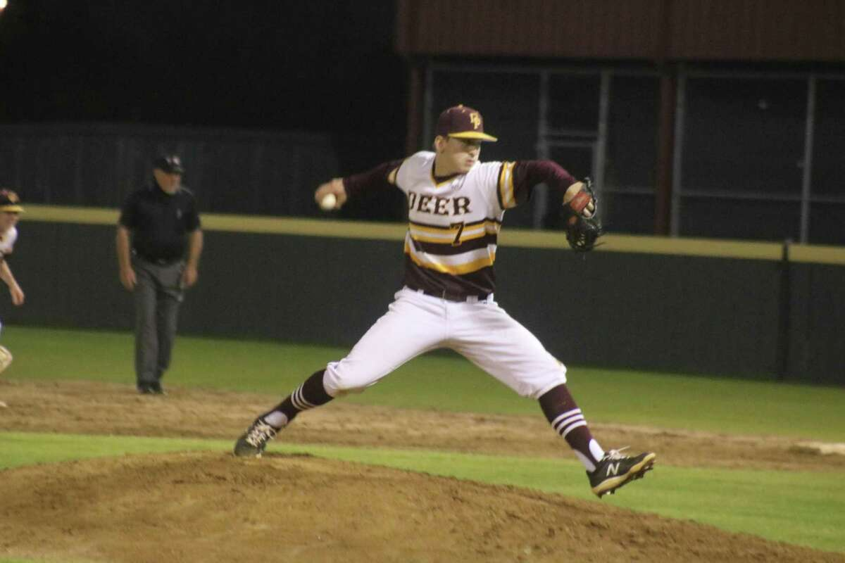 Jackson Cleveland works on another batter Wednesday night en route to his shutout performance on the hill.