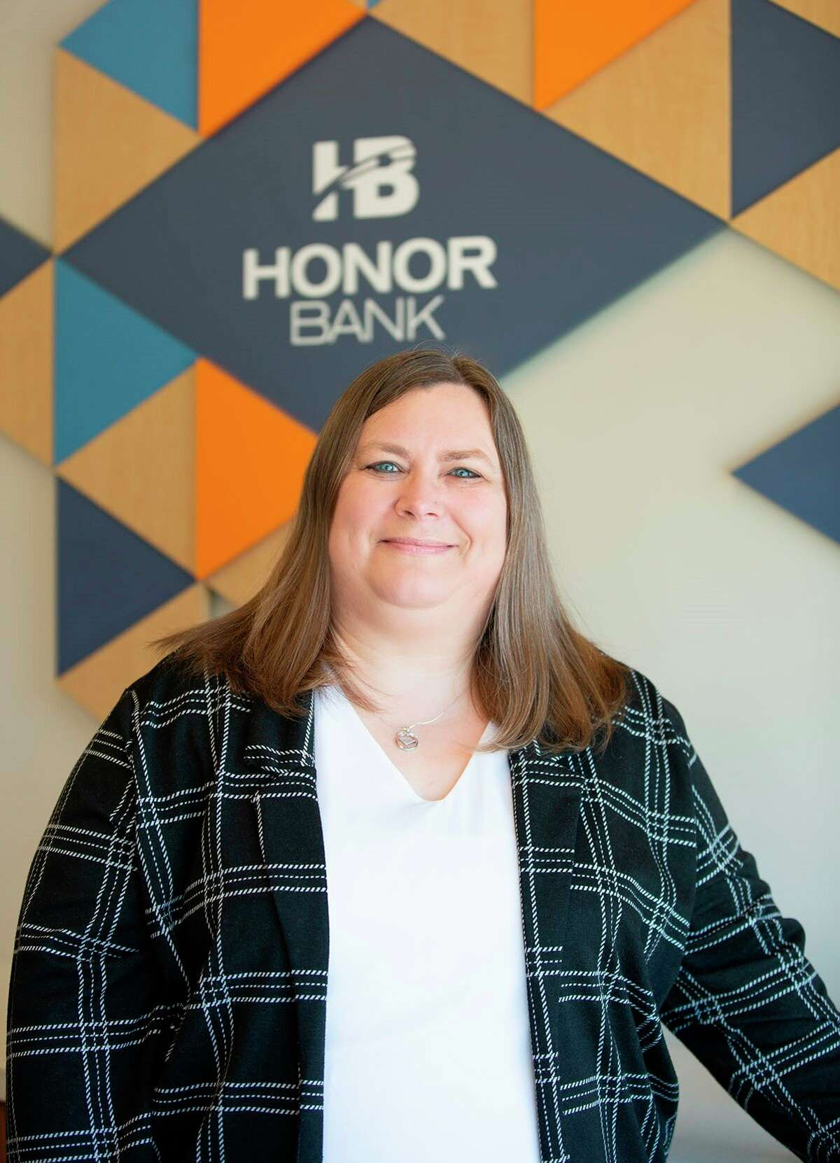 Mary Wisxon, Copemish branch manager of Honor Bank, was named the 2020 Honor Bank Employee of the Year. (Courtesy photo)