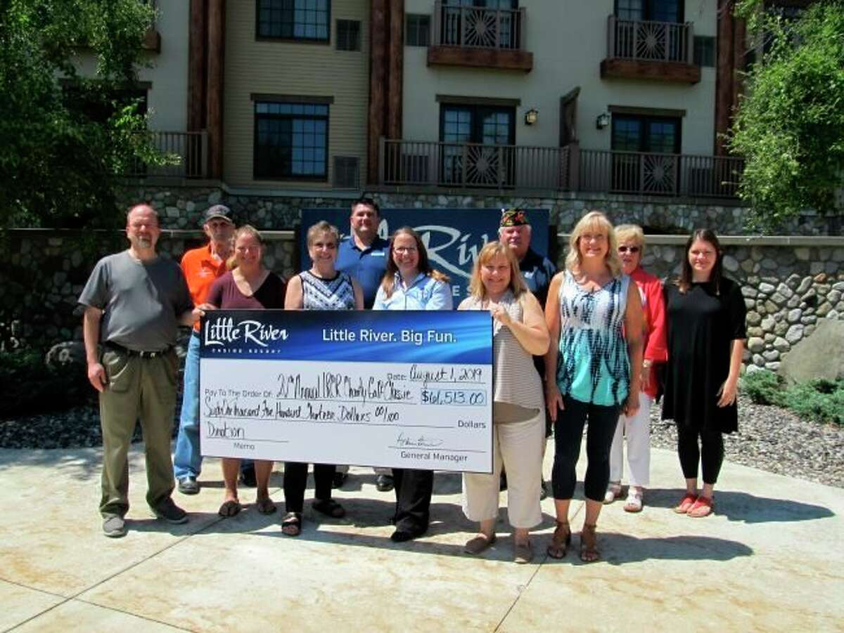 """Proceeds from the 2019 Charity Golf Outing were distributed to local nonprofit organizations: Special Olympics Area 24, Brethren High School's """"Blessings in a Backpack,"""" Northern Michigan Blue to Gold Star Mothers Inc., Choices of Manistee County Inc., ECHO His Love, Manistee VFW Walsh Post No. 4499, Manistee Friendship Society, Fruitport Schools Band, Manistee Prom Boutique and Manistee Catholic Central. (Courtesy Photo)"""