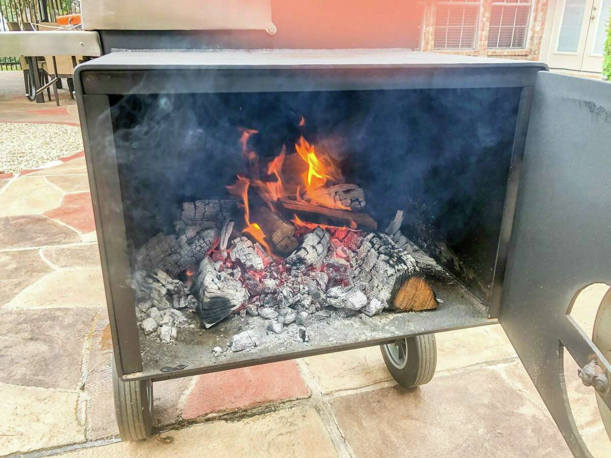 Let the fire to burn down to a coal bed to produce a consistent temperature.