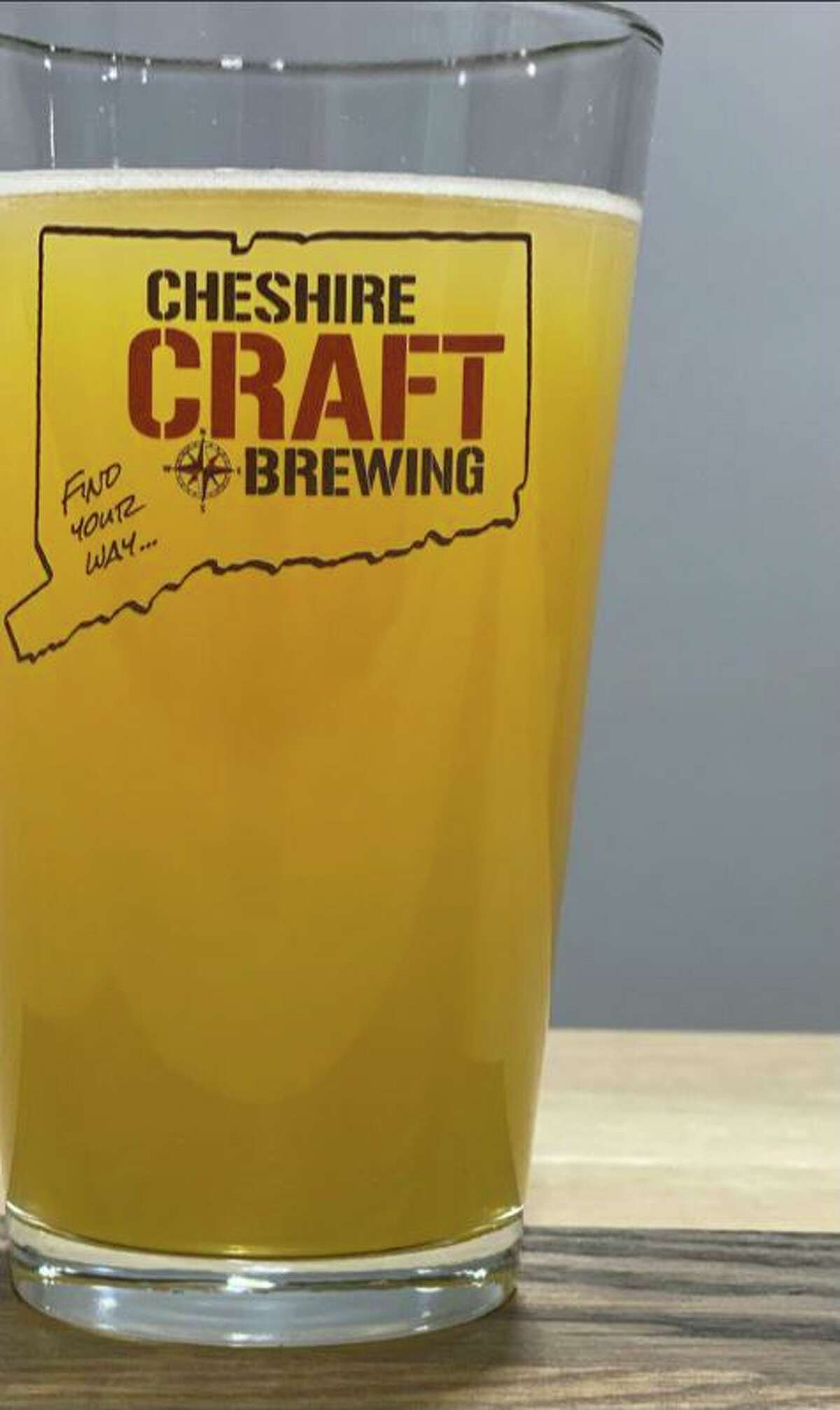 A glass of Cheshire Craft Brewing's beer. The business is expected to open to the general public later this spring.