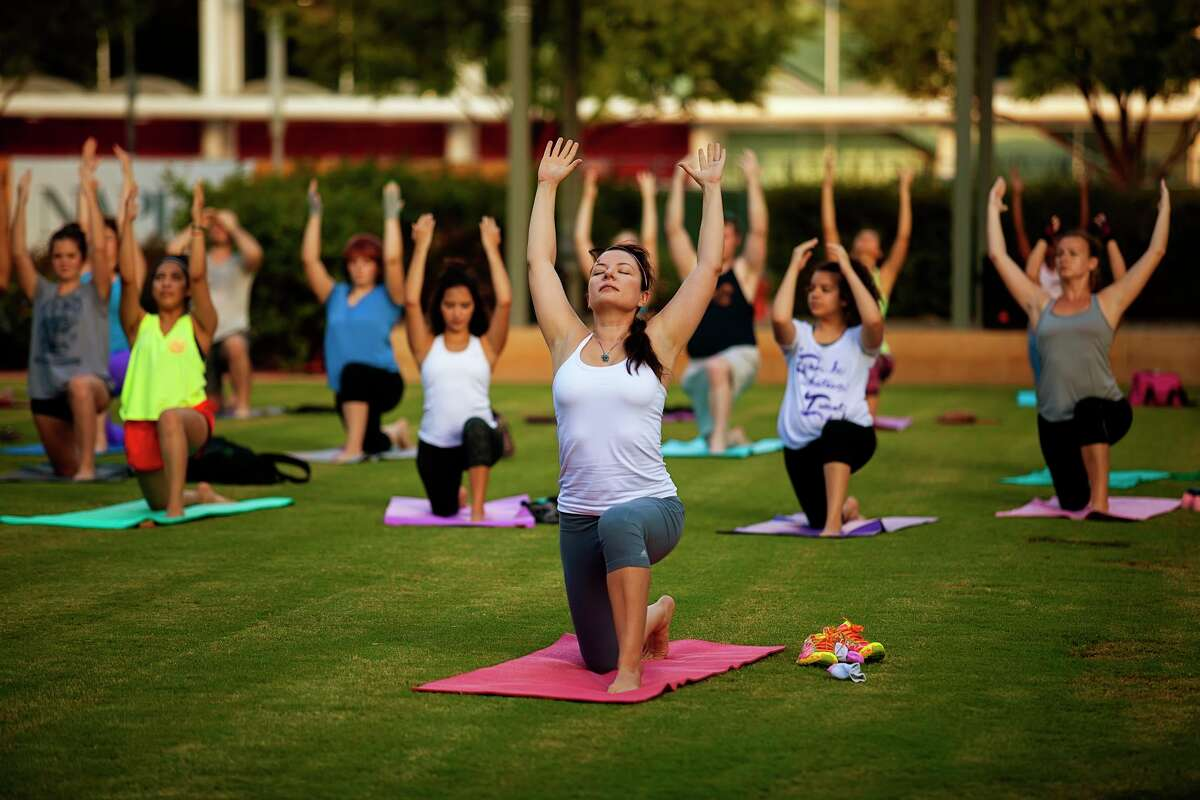 Yoga Flow at Discovery Green.