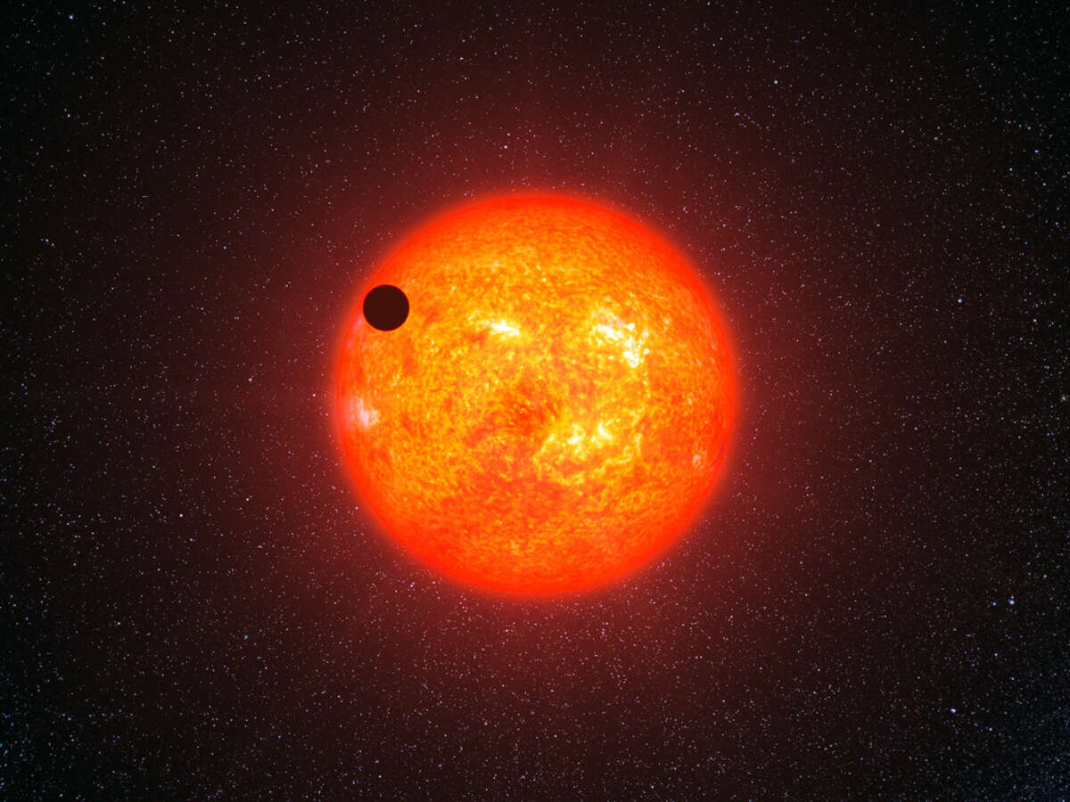 An artist's illustration of a rocky exoplanet such as GJ 1132 b.