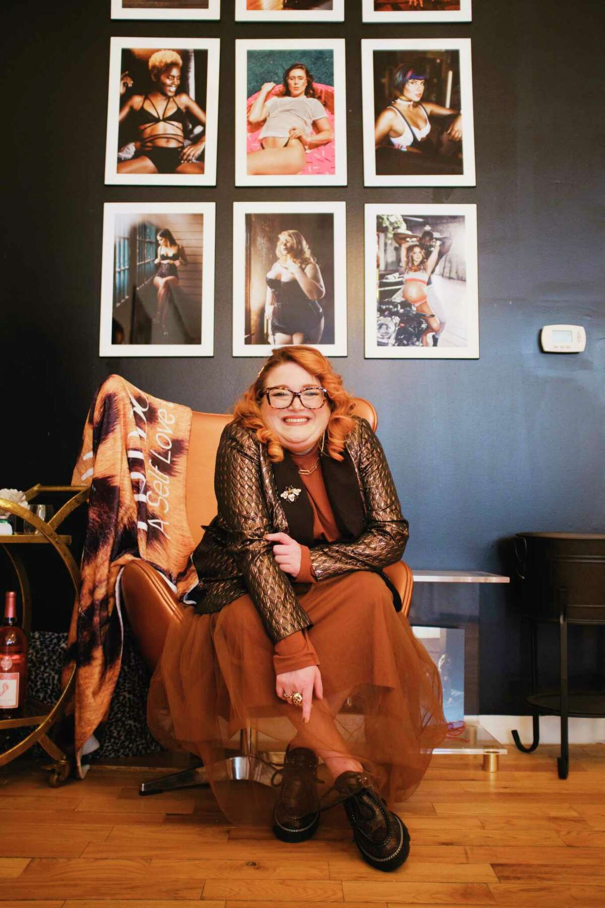 Lindsay Rae D'Ottavioowner of Self Love Experience, at her studio on Thursday, March 11, 2021, in Troy, N.Y. (Paul Buckowski/Times Union)