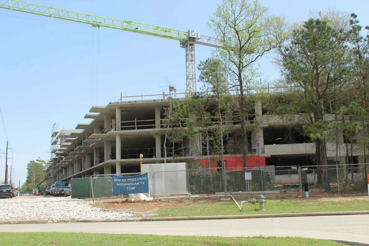 Three new residential complexes are under construction in Shenandoah which could lead to the small city's population exceeding 5,000 in the next few years. The new complexes are joined by a three-story office complex on Vision Park Drive.