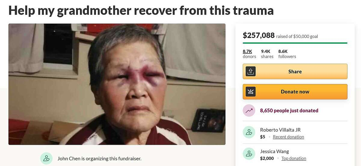 A fundraiser for a 75-year old San Francisco woman who was attacked on March 17 and fought off the suspect has raised more than five times its goal in 12 hours.