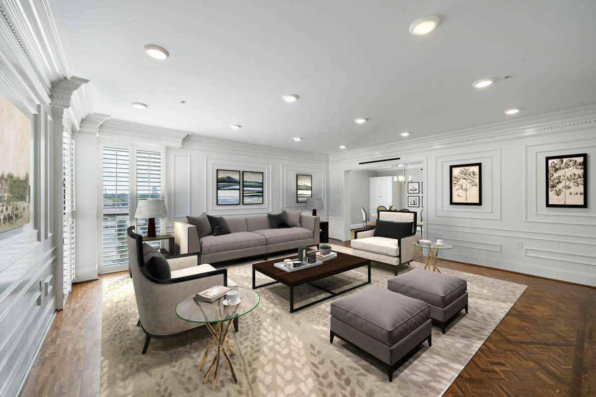 The McKinney, a beautifully appointed and spacious apartment home, showcases floor-to-ceiling windows and lots of natural light.