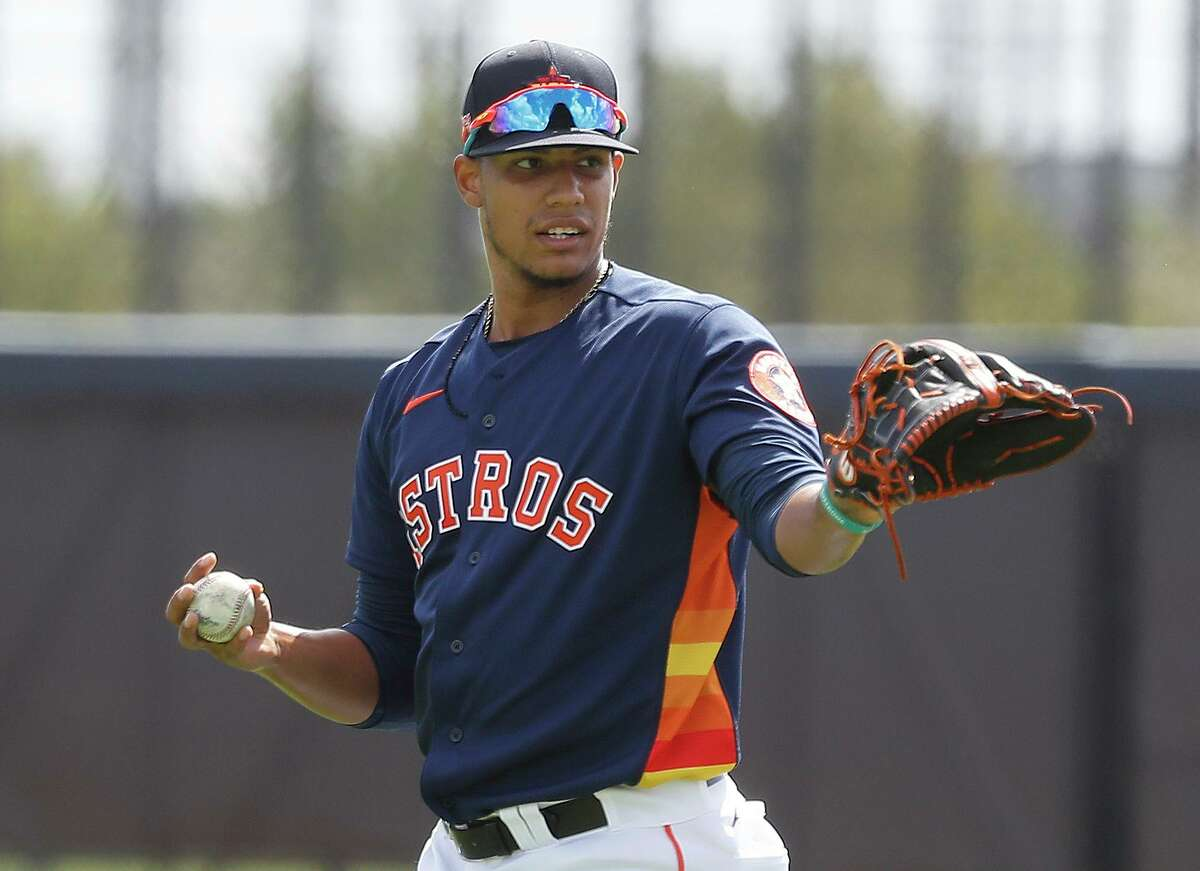 Astros righthander Bryan Abreu has struck out 368 batters in 287 1/3 minor league innings, an elite-level ratio.