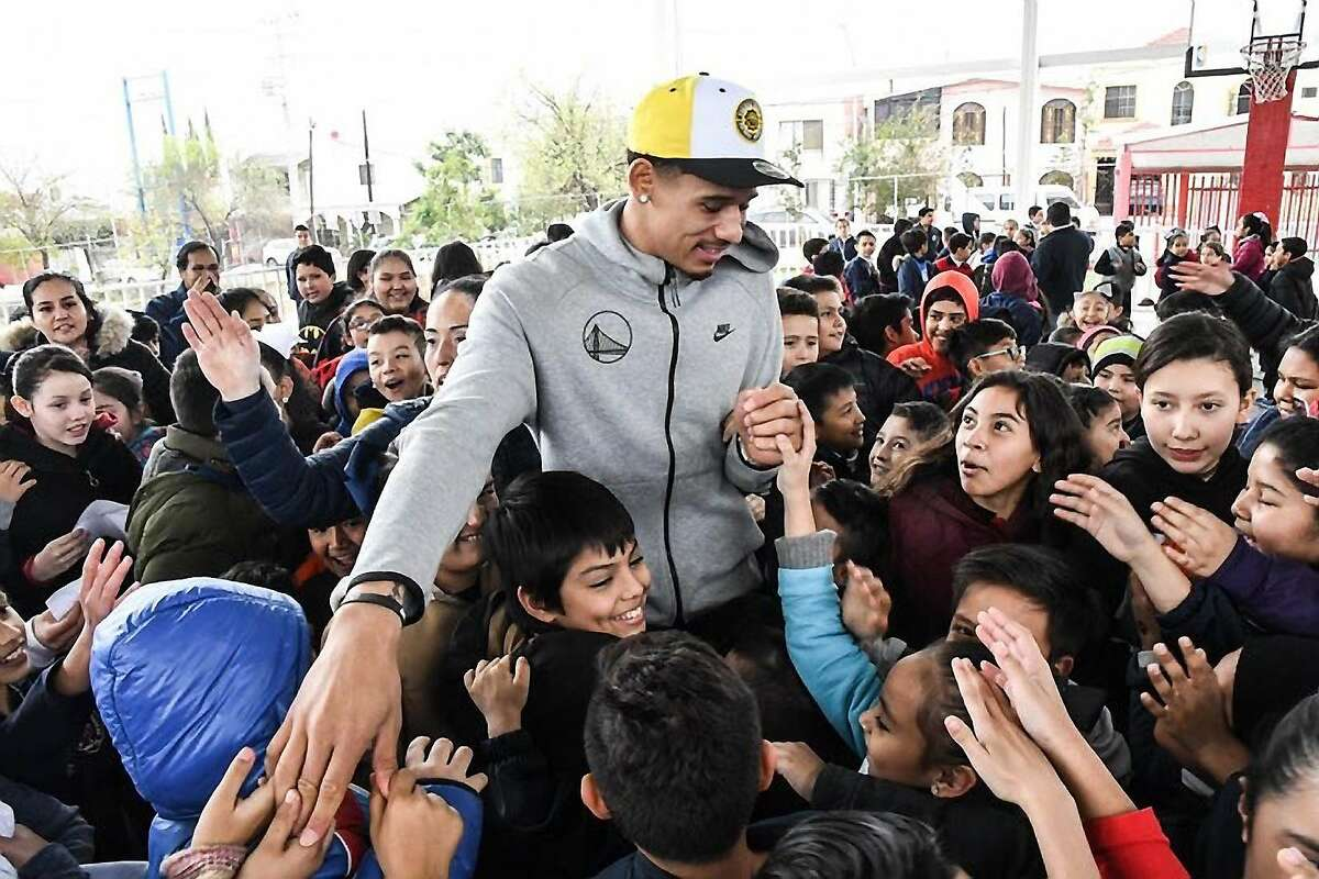 During the All-Star break, Juan Toscano-Anderson held a basketball camp at an elementary school in Monterrey, Mexico.
