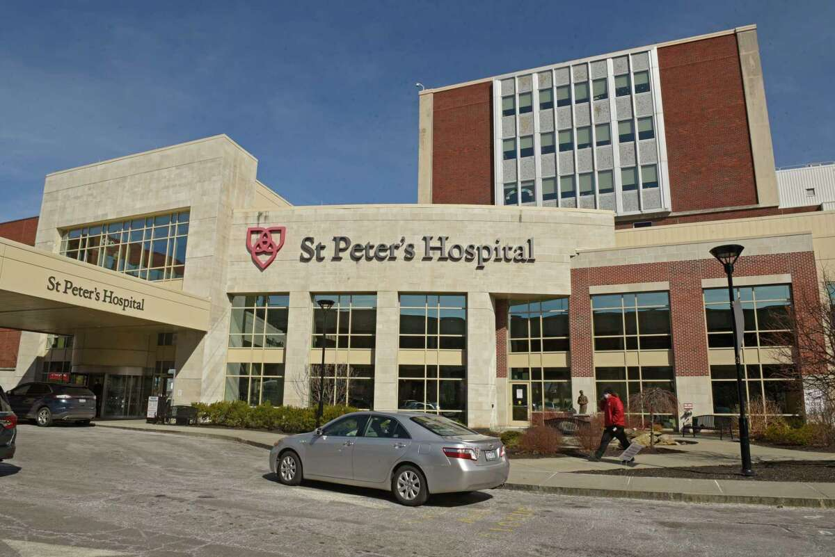Exterior of St. Peter's Hospital on Friday, March 5, 2021 in Albany, N.Y. (Lori Van Buren/Times Union)