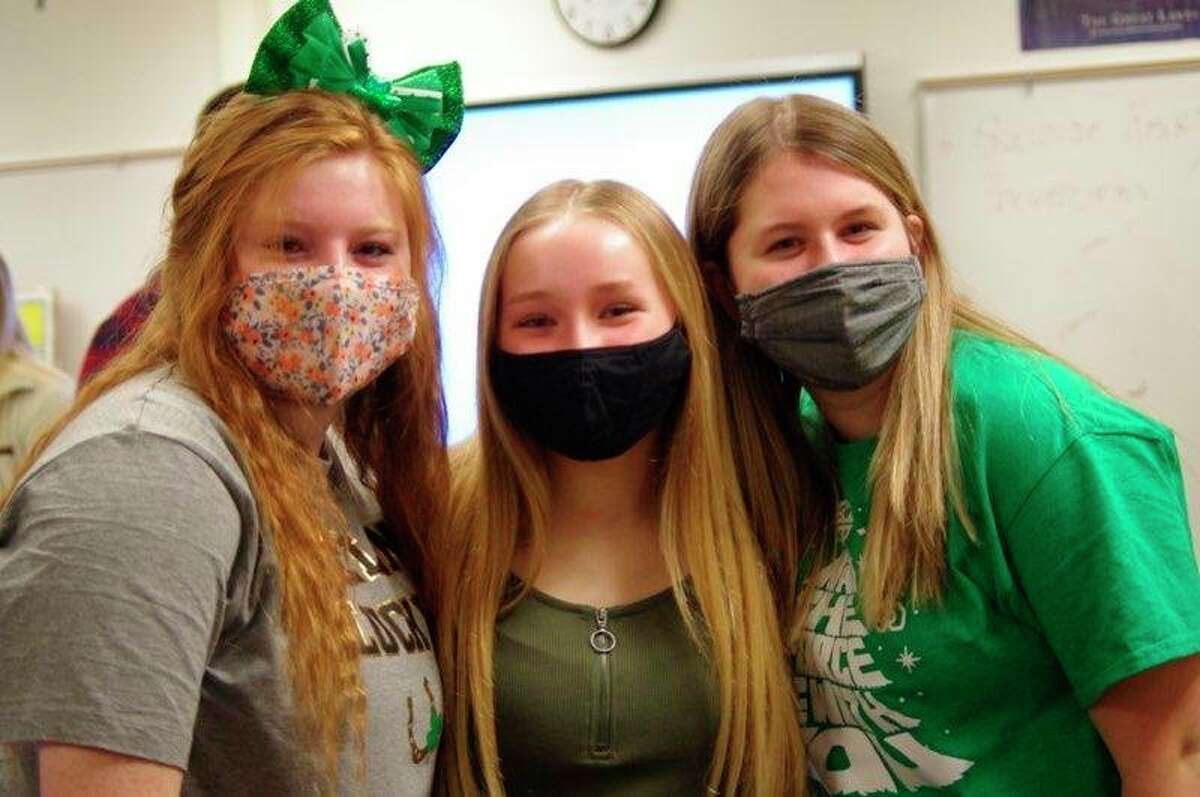 Students at Onekama Consolidated Schools celebrated spirit week by decorating posters, participating in dress-up days and enjoying a stromboli and breadstick lunch from Big Al's. (Courtesy photo)