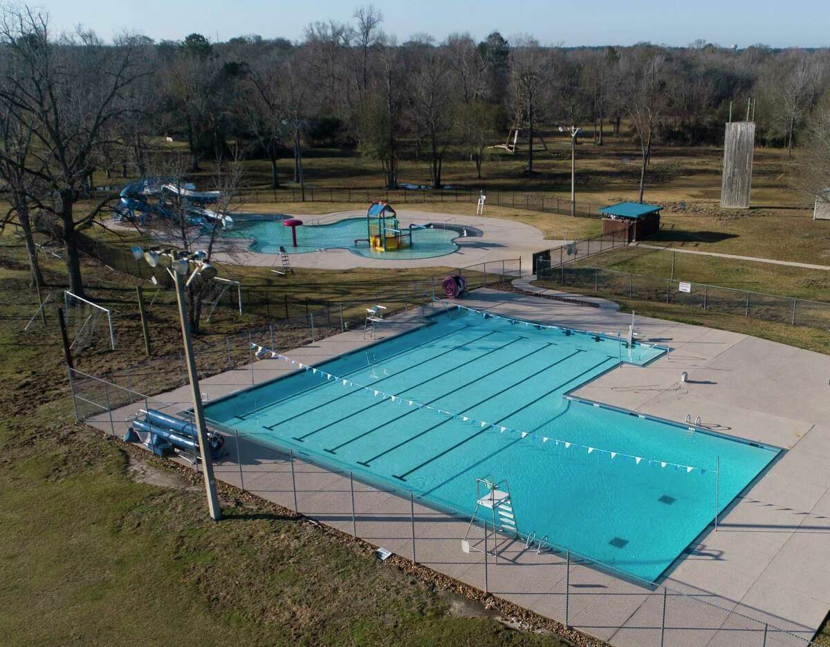 Pools at the Conroe Family YMCA are seen, Wednesday, Jan. 13, 2021, in Conroe. The City of Conroe has executed a contract to purchase the vacant Conroe Family YMCA. Plans are to turn the YMCA facility into a recreational facility of its own.