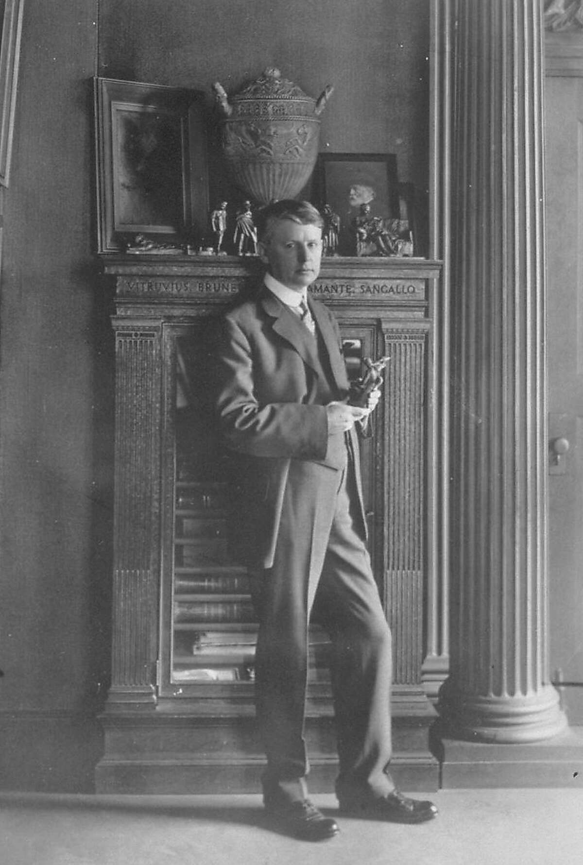 Willis Polk, San Francisco architect, in a photo dating from about 1913.