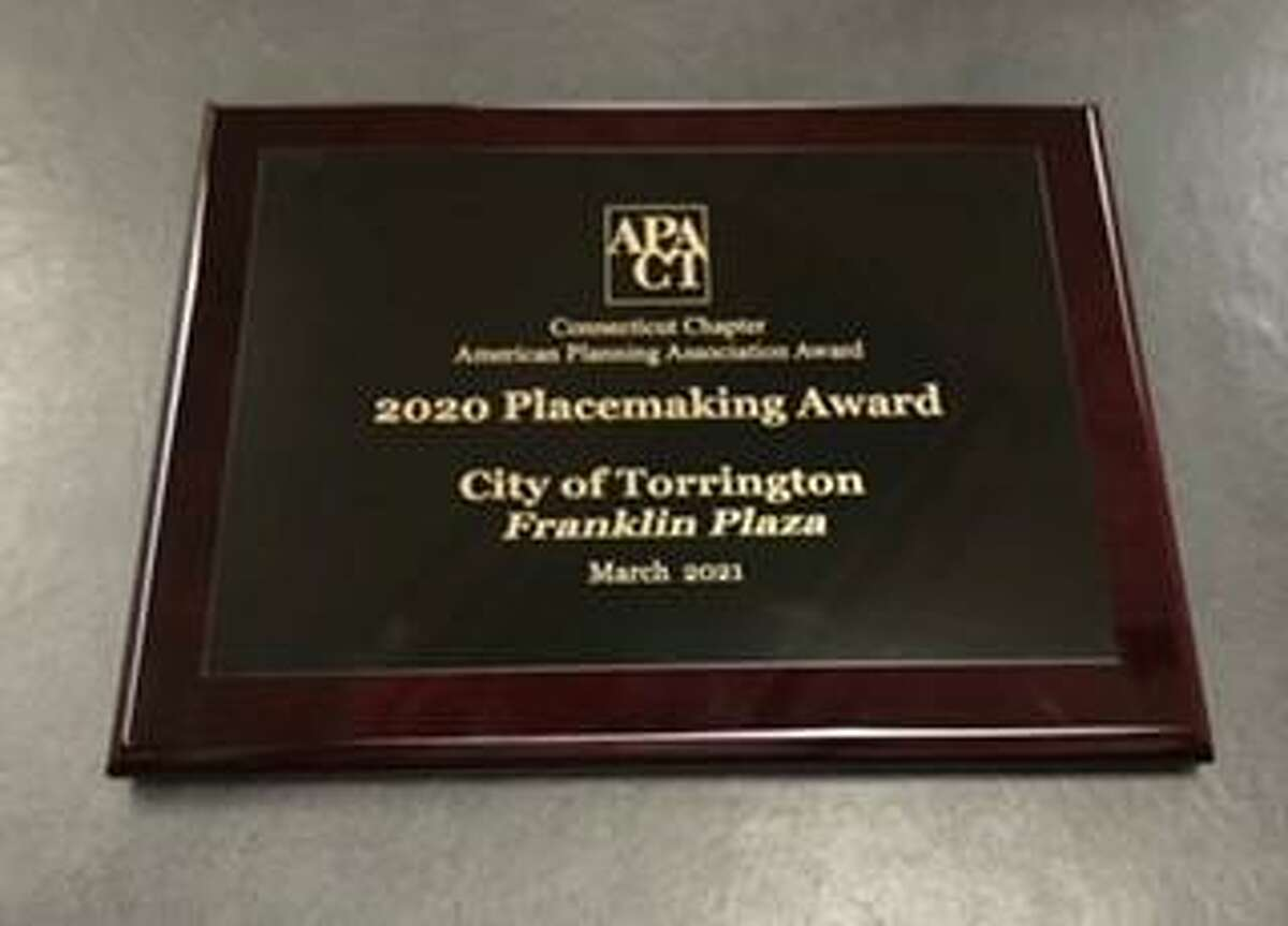 The Connecticut Chapter of the American Planning Association presented a Place Making Award to the City of Torrington for Franklin Plaza.