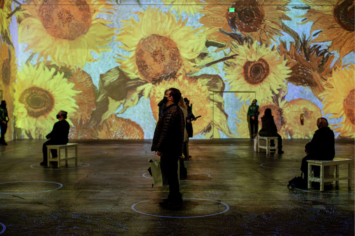 The premiere of the new Immersive Van Gogh Exhibit in SVN West (formerly the Fillmore West), on Thursday, March 18, 2021.