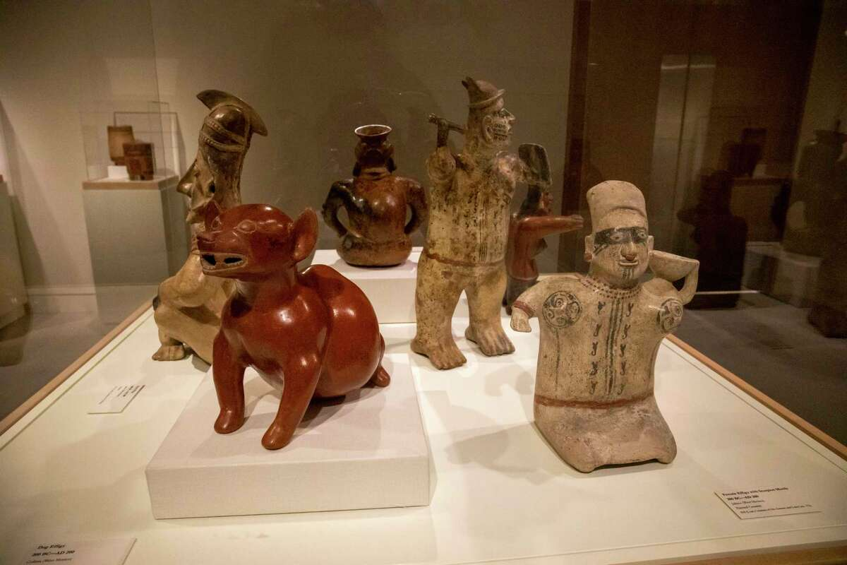 """""""Precolumbian Lifeways"""" exhibit as seen March 3, 2021, at the Museum of the Southwest. Jacy Lewis/ Reporter-Telegram"""