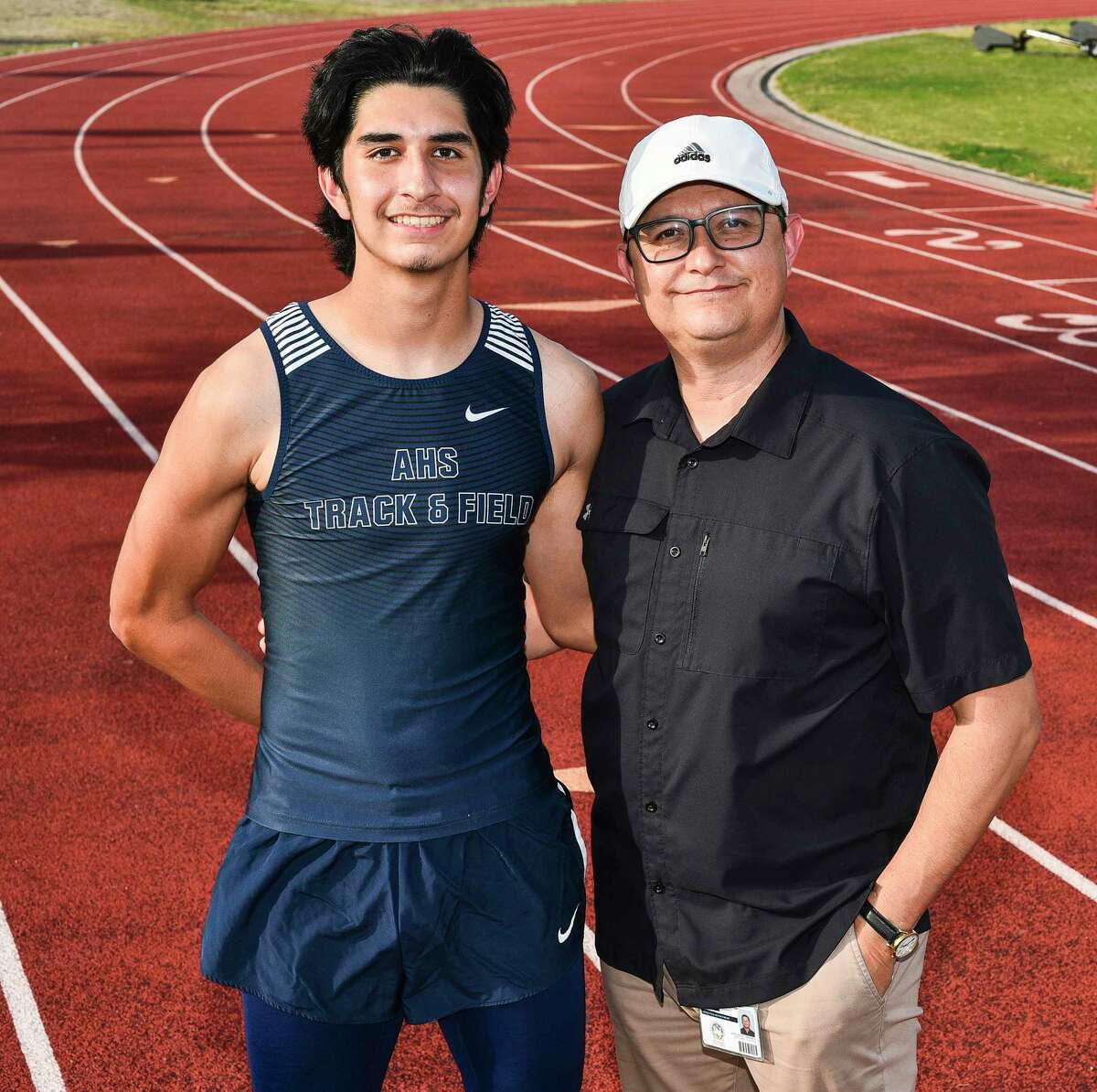 Aquiles Briones is competing in multiple hurdle events for Alexander and is following in the footsteps of his father Jose Briones by running in the 4x400-meter relay.