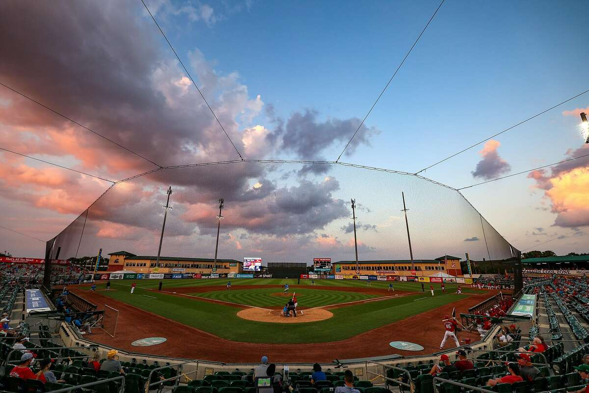 JUPITER, FLORIDA - MARCH 18: Roger Dean Chevrolet Stadium is shown during a spring training game between the St. Louis Cardinals and the Miami Marlins at on March 18, 2021 in Jupiter, Florida. (Photo by Mark Brown/Getty Images)