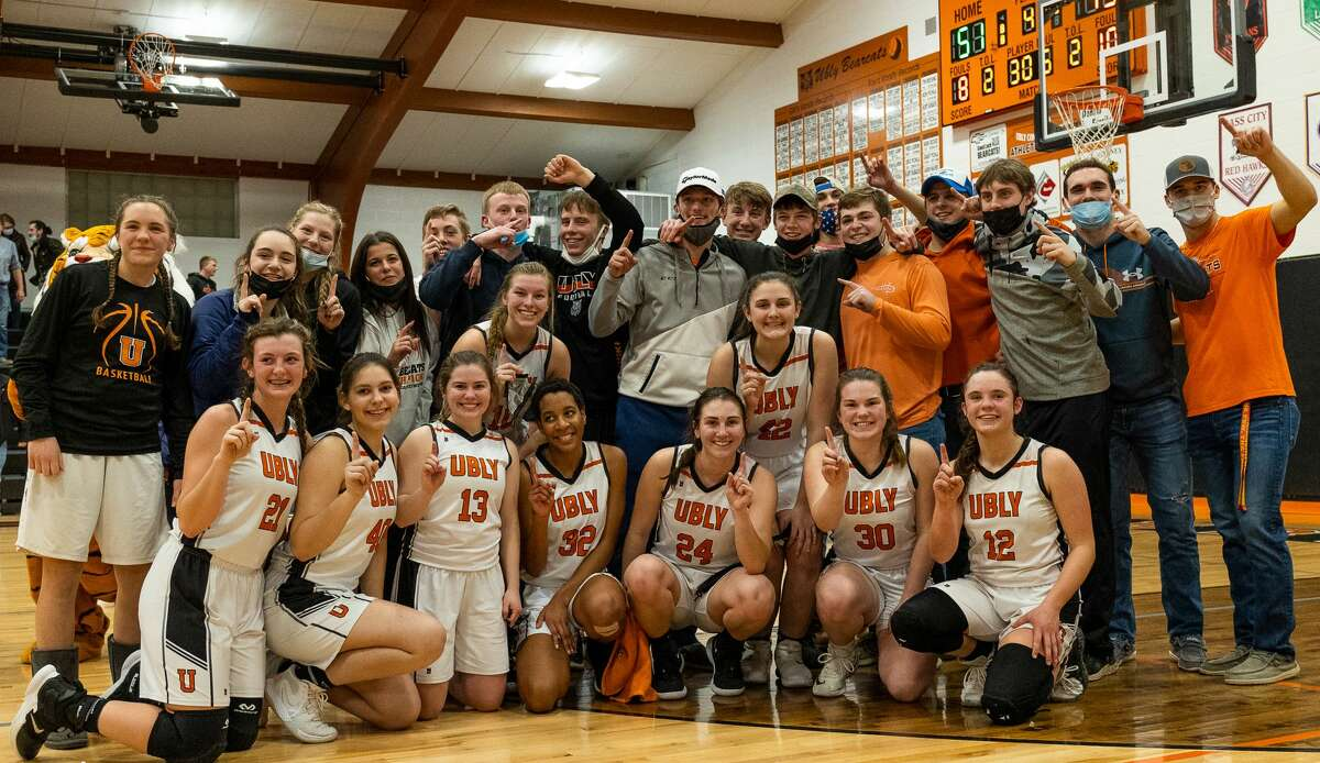 The Ubly girls basketball team outlasted rival Harbor Beach in a nail-biting, double-overtime thriller on Thursday night. The Bearcats won, 51-45, to lay claim to a share of the Greater Thumb Conference East title.